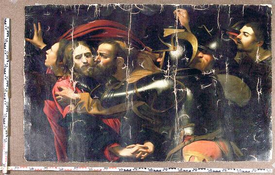 Мікеланджело Мерізі да Караваджо «Взяття Христа під варту або поцілунок Іуди»